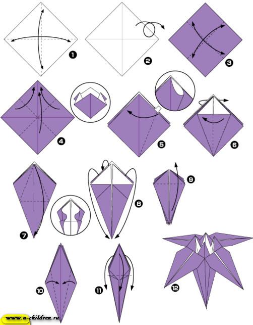 www,-children.ru kak sdelati cveti origami 1