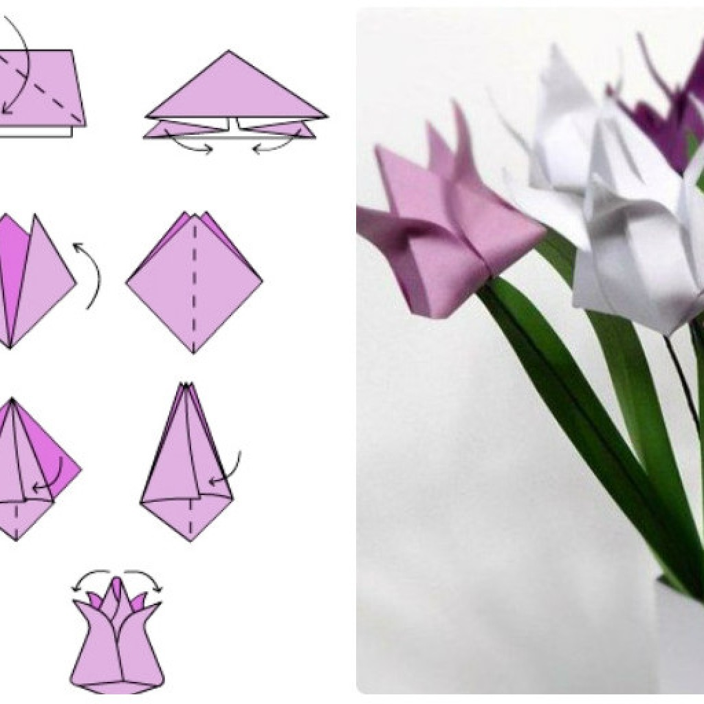 Как сделать тюльпан из бумаги своими руками, инструкция с фото 70