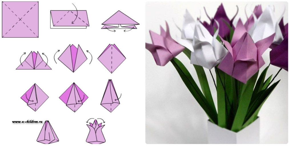 Как сделать красивые поделки из оригами 94
