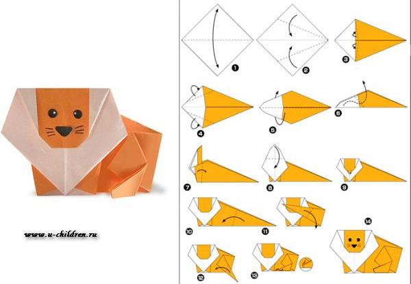www.u-children.ru kak sdelati origami 1