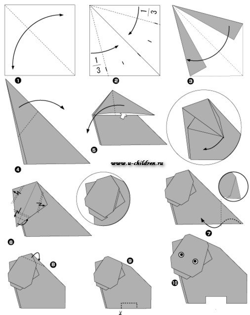 www.u-children.ru kak sdelati origami 4